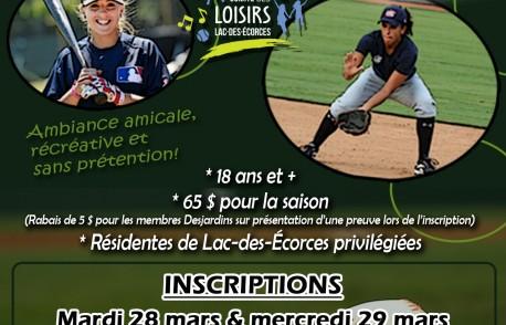 Ligue de balle donnée féminine de Lac-des-Écorces