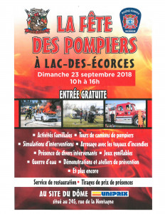fête des pompiers de Lac-des-Écorces