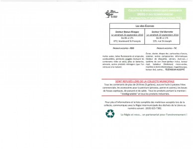 Informations importantes sur les RDD et les TIC