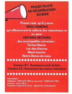 collecte volumineux Lac-des-Écorces
